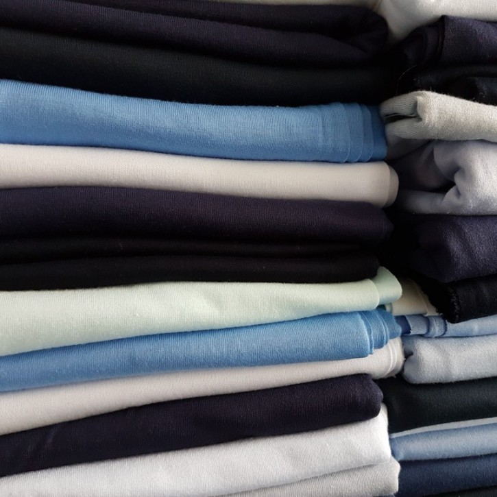 Ü-Stoffpaket Jersey 100% Baumwolle Blautöne