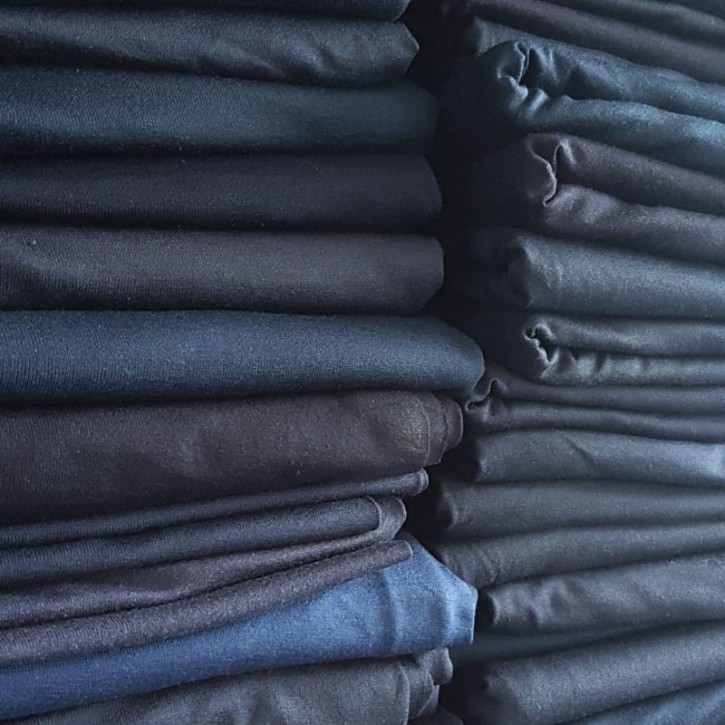 Ü-Stoffpaket Jersey Viskose/Elastan Marine