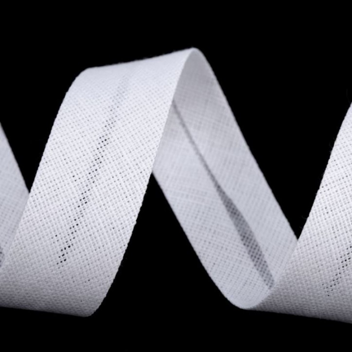 Schrägband Weiß 20mm x 2m