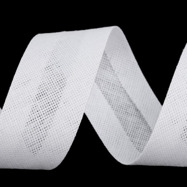 Schrägband Weiß 30mm x 1m