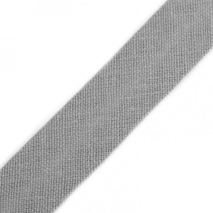 Schrägband Grau 14mm x 2,5m