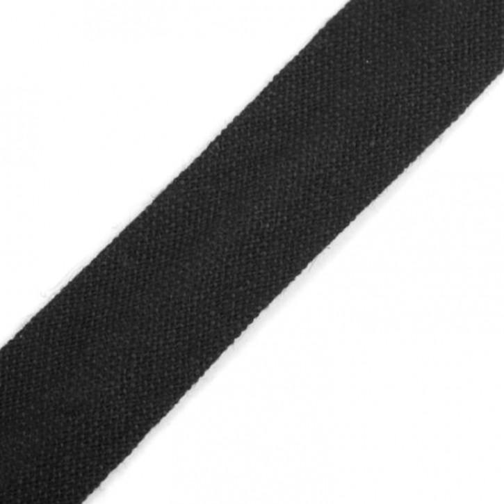 Schrägband Schwarz 14mm x 2,5m