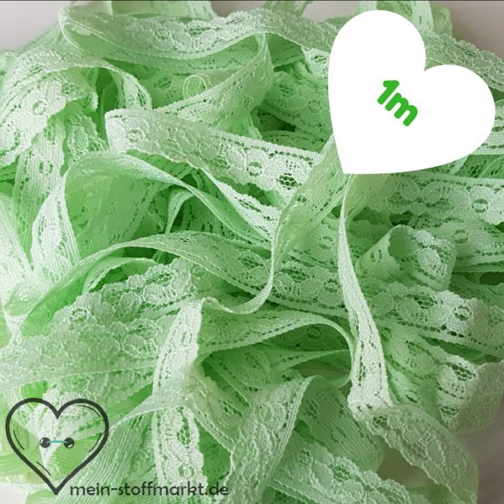 Spitze elastisch Hellgrün 12mm x 1m