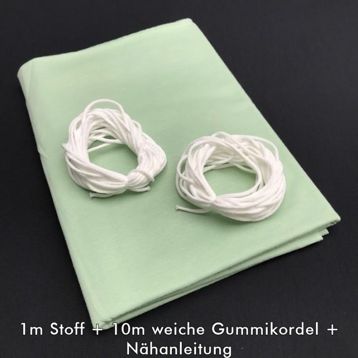 Nähset für Stoffmasken Grüngrau (bis zu 16 Masken)