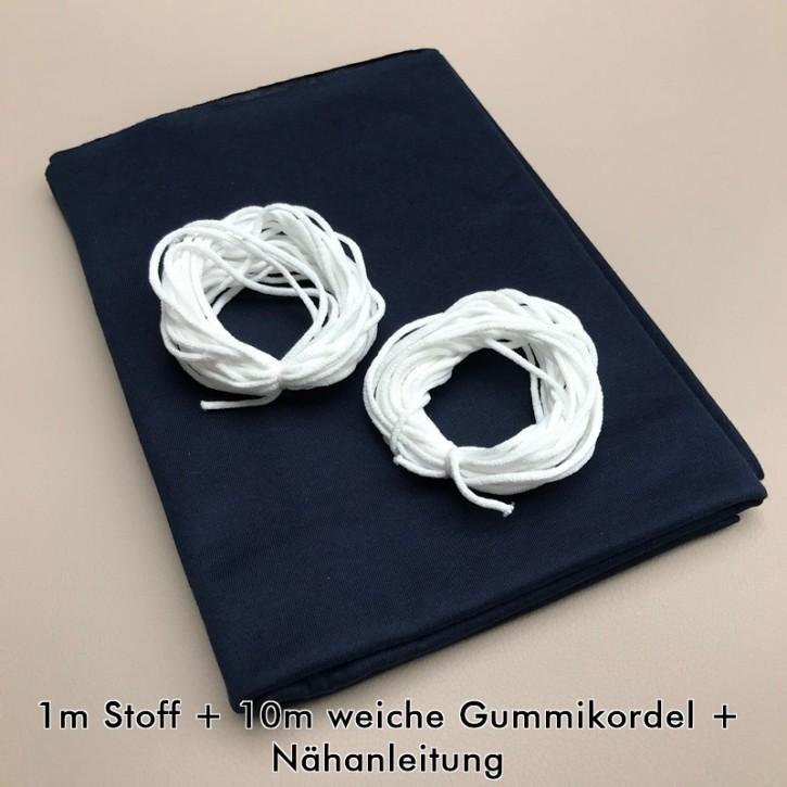 Nähset für Stoffmasken Marine (bis zu 16 Masken)