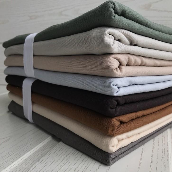 Ü-Stoffpaket Jersey Viskose/Elastan <100cm Natur-/Erdfarben