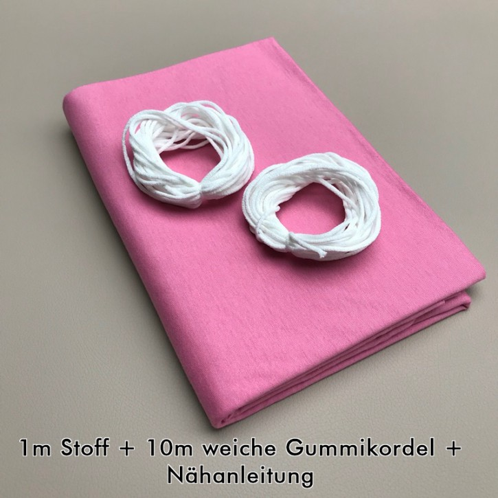 Nähset für Stoffmasken Rosa (bis zu 16 Masken)