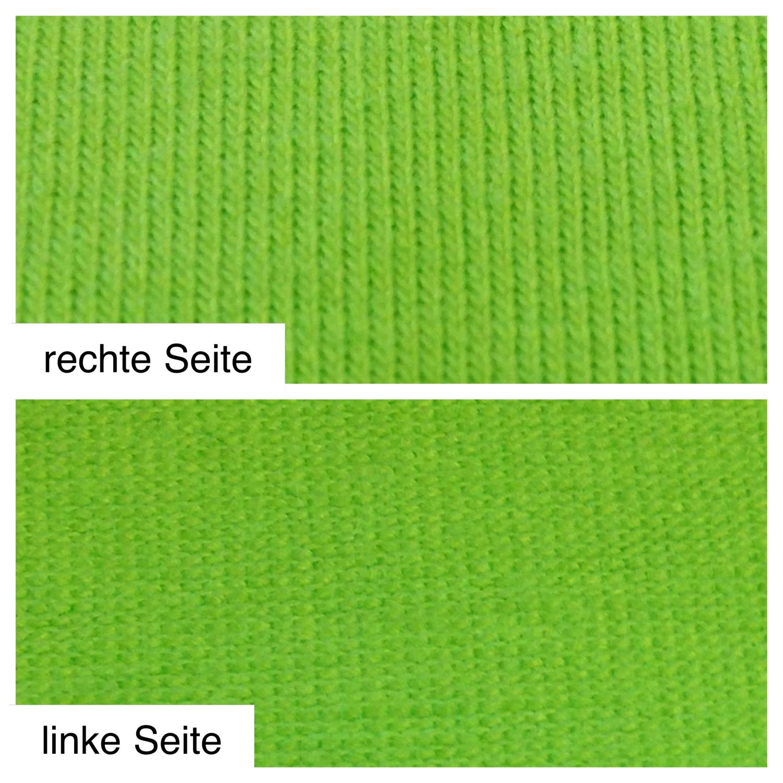 Singlejersey - linke und rechte Seite