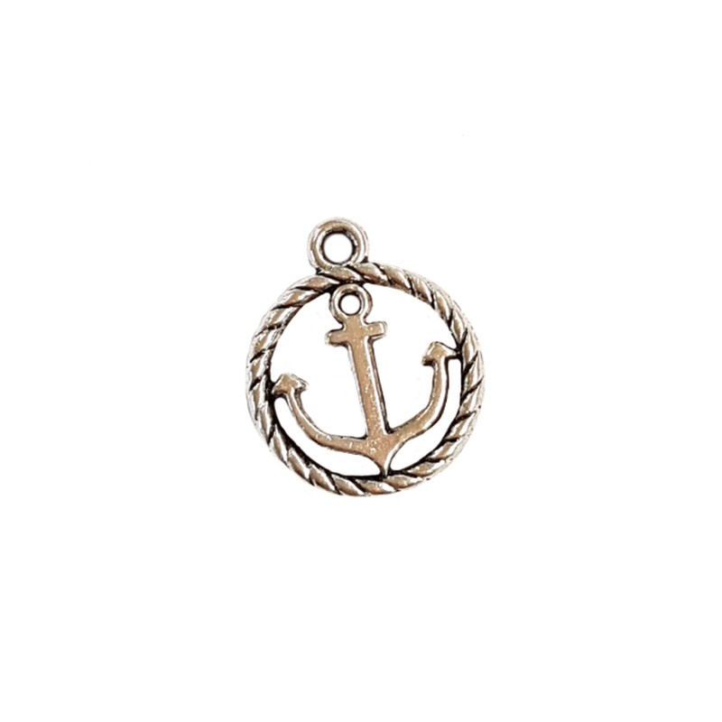 Anker Anhänger Ahoi Maritim Anker Silber Charms & Charm Bracelets Jewelry & Watches