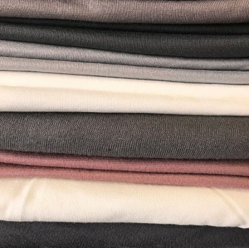 Ü-Stoffpaket Jersey Viskose/Elastan Natur Beige Grau Braun