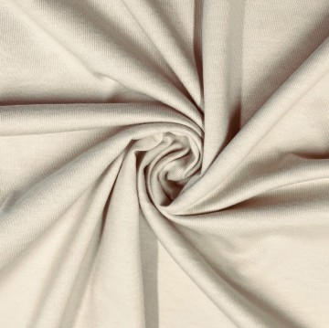 Singlejersey 100% Baumwolle  135g/m² Sand 0,25m (146000)