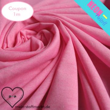 Singlejersey Neonpastell 190g/m² Pink Coupon 1m (212049)