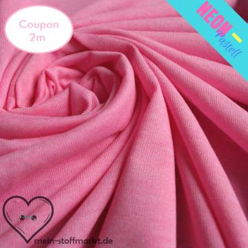 Singlejersey Neonpastell 190g/m² Pink Coupon 2m (212049)