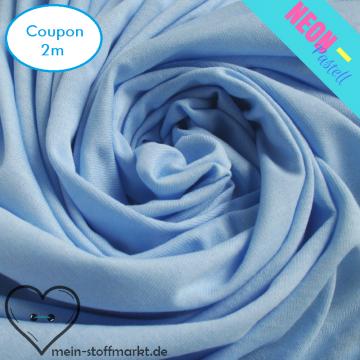 Singlejersey Neonpastell 190g/m² Blau Coupon 2m (212049)