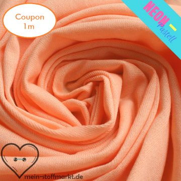 Singlejersey Neonpastell 190g/m² Orange Coupon 1m (212049)