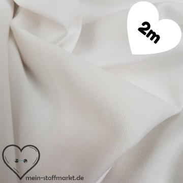 Interlock Romanit Viskose Polyester 290g/m² Weiß Coupon 2m (261002)