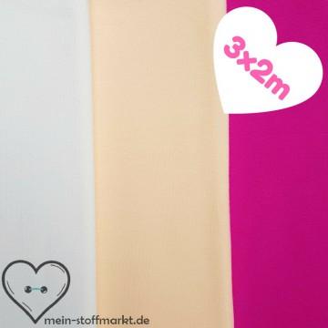 Stoffpaket Baumwolljersey Weiß Hellgelb Pink 3x2m (358000)
