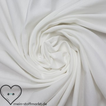 Baumwolljersey mit Elastan 120g/m² Weiß 0,25m (358105)