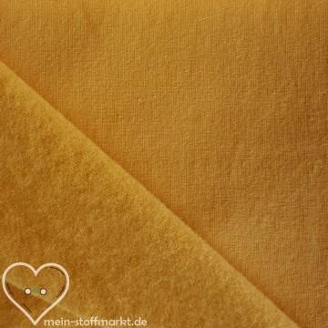 Sweat geraut Baumwolle/Elastan 225g/m² Gelb 0,25m (358115)
