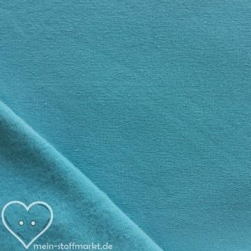 Sweat geraut Baumwolle/Elastan 225g/m² Hellblau 0,25m (358115)