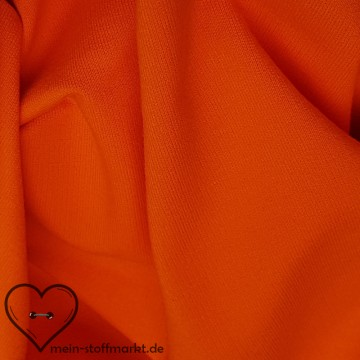Sweat Baumwolle/Elastan 280g/m² Orange 0,25m (358119)
