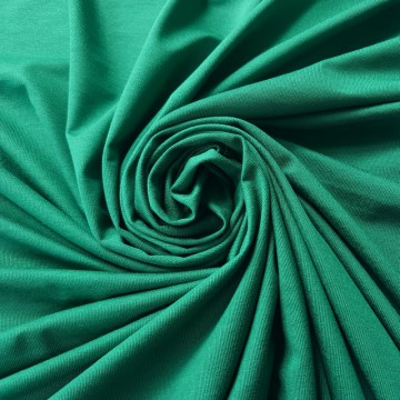 Viskosejersey mit Elastan 200g/m² Smaragd 0,25m (368029)
