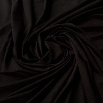 Viskosejersey mit Elastan 170g/m² Schwarz geflammt 0,25m (368068)