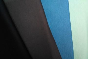 Stoffpaket Baumwolljersey Mittelblau/Dunkelblau/Dunkelgrau/Aqua