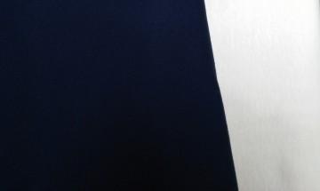 Stoffpaket Baumwollinterlock Marine/Weiß 2x1m