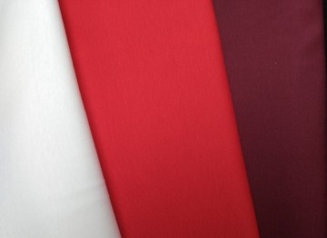 Stoffpaket Baumwollinterlock Rot/Weiß/Bordeaux 3x1m