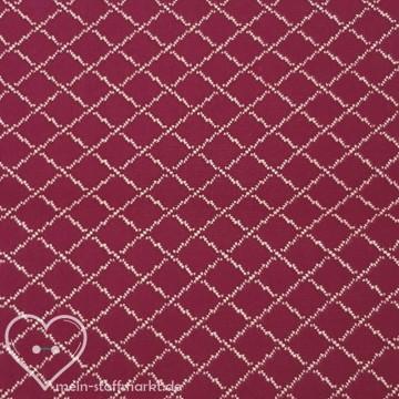 Steppkaro Baumwolle Polyester Rot/Weiß 0,25m (851018)