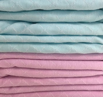 Steppkaro Baumwolle Polyester Hellblau/Weiß 0,25m (851018)