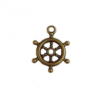 Anhänger Ruder Maritim Messing