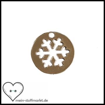 Anhänger Schneeflocke Medaillon Silber