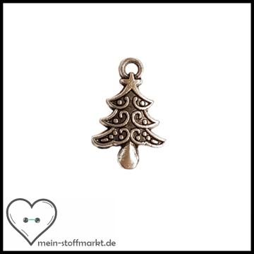 Anhänger Weihnachtsbaum Silber
