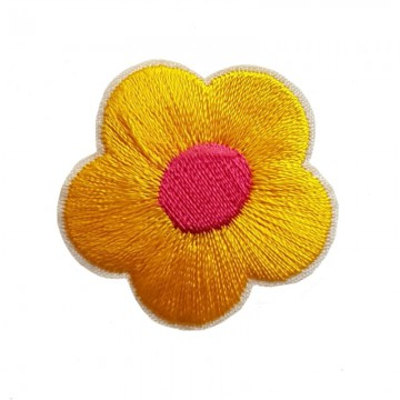 Aufbügler Blume Gelb
