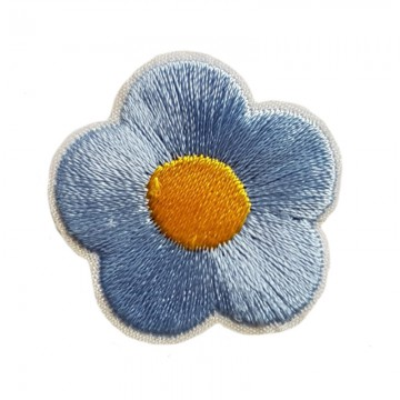 Aufbügler Blume Hellblau