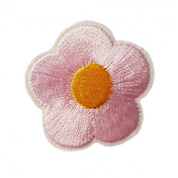 Aufbügler Blume Rosa
