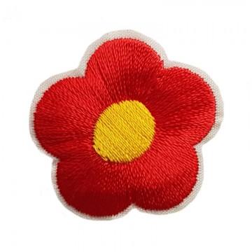 Aufbügler Blume Rot