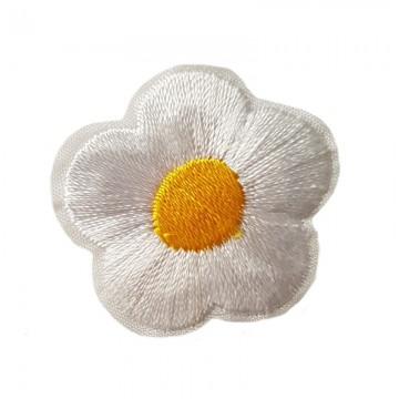 Aufbügler Blume Weiß