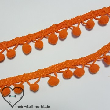 Bommelborte 20mm Orange - 3m