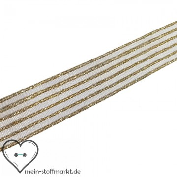 Dekoband Lurex 26mm Gold 2m