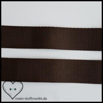 Gurtband Braun/Brunette 30mm x 2m