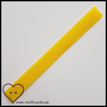 Klettverschluss 2x20cm Gelb
