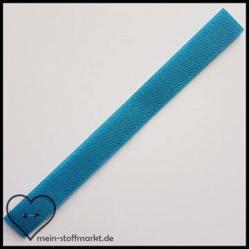 Klettverschluss 2x20cm Mittelblau