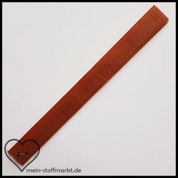 Klettverschluss 2x20cm Mittelbraun
