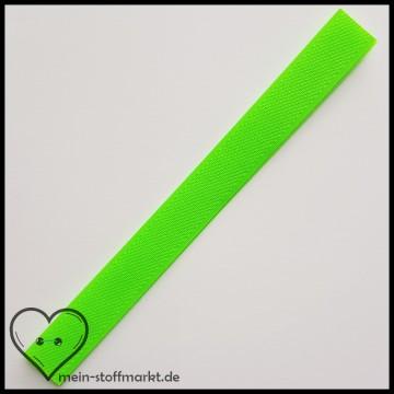 Klettverschluss 2x20cm Neongrün