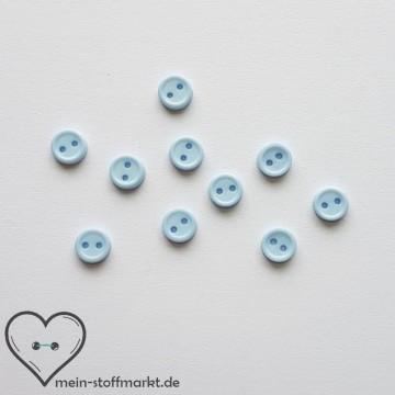 """Knöpfe """"Minis"""" 7,5mm Set 10er Hellblau"""