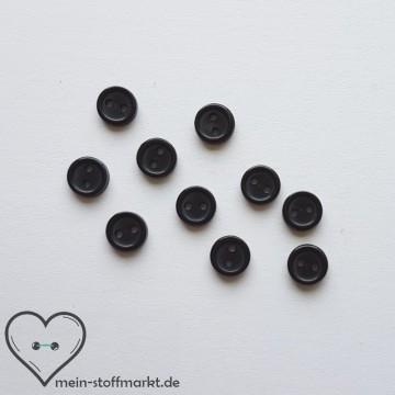 """Knöpfe """"Minis"""" 7,5mm Set 10er Schwarz"""