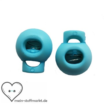 Kordelstopper 2er Set 15x20 mm Hellblau